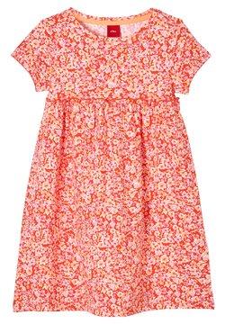 s.Oliver - Jerseykleid - orange aop