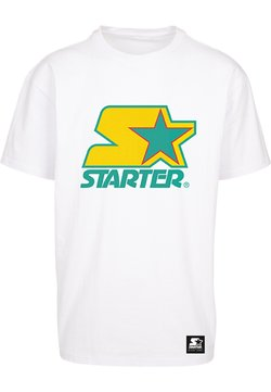Starter - T-shirt print - white/yellow/green