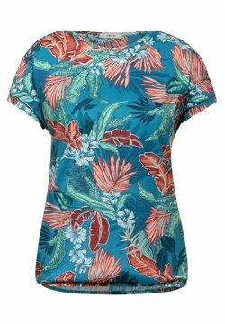 Cecil - MIT PRINT - T-Shirt print - türkis