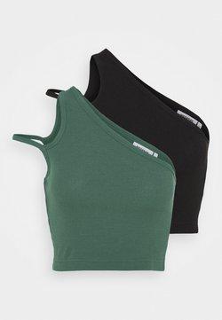 Weekday - STRAP CROP 2 PACK - Toppi - green/black