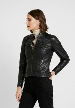 NAF NAF - CLIM - Veste en cuir - black