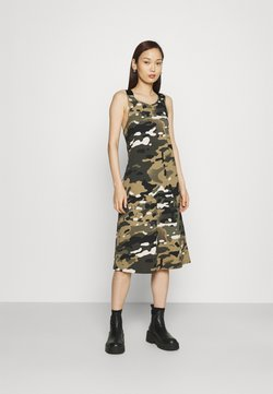 G-Star - A-LINE DUNGAREE CAMO AO DRESS - Jersey dress - whitebait multi camo