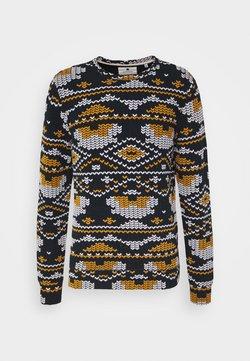 Anerkjendt - ARTHUR - Sweater - dark blue/yellow/white