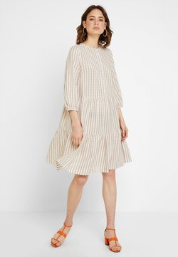 Culture - NOOR STRIPE DRESS - Blusenkleid - sand