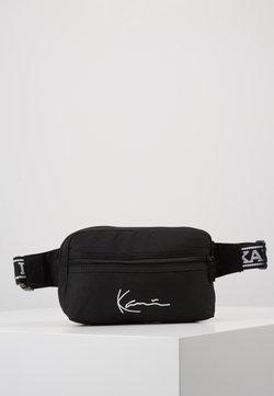 Karl Kani - KK SIGNATURE TAPE HIP BAG - Bum bag - black/white
