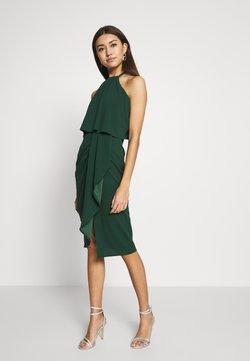 WAL G. - HALTER KNECK FITTED MIDI DRESS - Sukienka z dżerseju - forest green