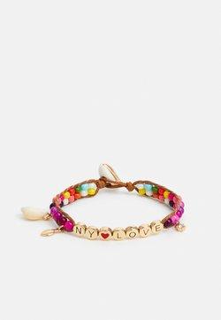 Rebecca Minkoff - NY LOVE BEADED BRACELET - Armband - gold-coloured