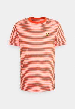 Lyle & Scott - COLOUR STRIPE - T-Shirt print - burnt sienna