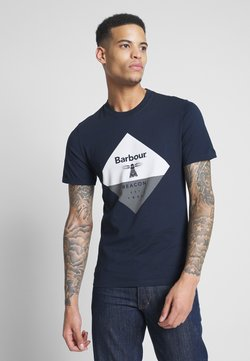 Barbour Beacon - DIAMOND TEE - T-shirt print - navy