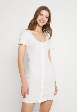 Glamorous - MAYA BUTTON THROUGH MINI DRESS WITH SCOOP NECKLINE - Etuikleid - cream