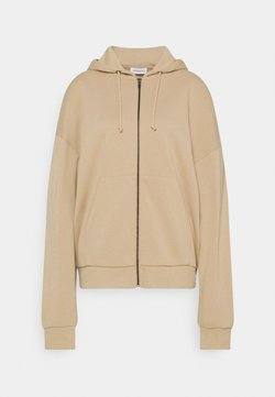 Even&Odd - Oversized Hooded Sweat Jacket - Sweatjacke - mottled beige