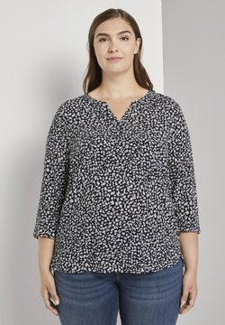 MY TRUE ME TOM TAILOR - Bluse - navy abstract leopard design