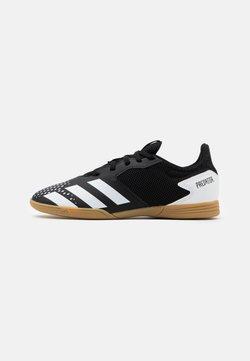 adidas Performance - PREDATOR 20.4 FOOTBALL SHOES INDOOR UNISEX - Fußballschuh Halle - core black/footwear white