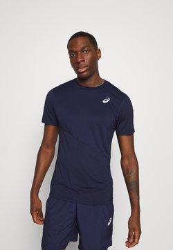 ASICS - CLUB TEE - T-Shirt basic - peacoat/peacoat