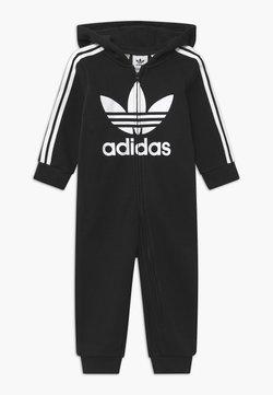 adidas Originals - HOODED ONESIE UNISEX - Jumpsuit - black/white