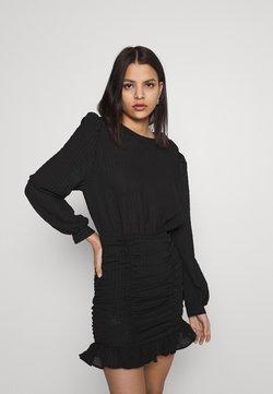 Nly by Nelly - RUCHE DRESS - Vestido de cóctel - black