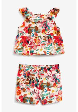 Next - PRINTED CO-ORD SET  - Shorts - pink