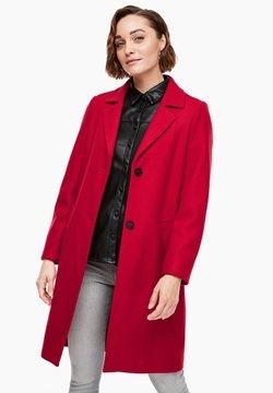 s.Oliver - langarm - Wollmantel/klassischer Mantel - dark red
