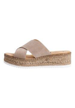 s.Oliver - Sandaletter med kilklack - taupe