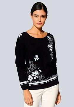 Alba Moda - Strickpullover - schwarz weiß