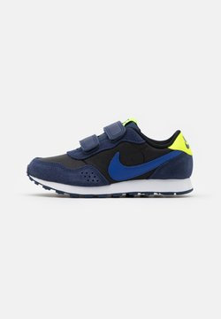 Nike Sportswear - VALIANT - Sneakers laag - black/astronomy blue/midnight navy/volt