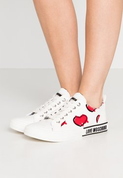 Love Moschino - LABEL SOLE - Sneakers laag - white