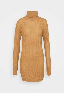 Missguided Tall - ROLL NECK BASIC DRESS - Neulemekko - camel