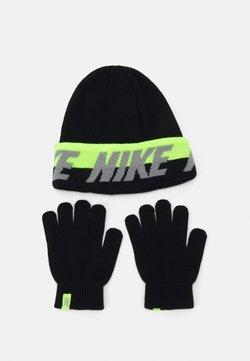 Nike Sportswear - WORDMARK COLDWEATHER SET - Mütze - black/volt