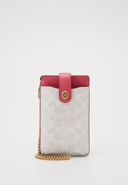 Coach - SIGNATURE BLOCKING TURNLOCK CHAIN PHONE CROSSBODY - Etui na telefon - chalk/confetti pink