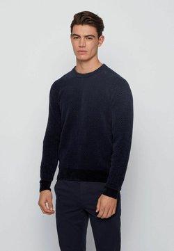 BOSS - Strickpullover - dark blue