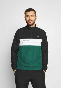 Lacoste Sport - TRACKSUIT - Chándal - black/bottle green