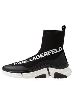 KARL LAGERFELD - VENTURE - Sneaker high - black/white
