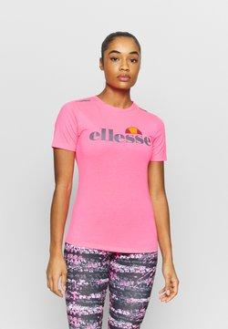 Ellesse - DELLE - T-Shirt print - neon pink