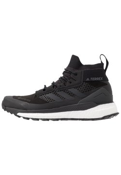 adidas Performance - TERREX FREE HIKER GORE TEX HIKING SHOES - Hikingskor - core black/grey three/active orange