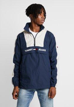 Tommy Jeans - COLORBLOCK POPOVER - Windbreaker - black iris/pumice stone
