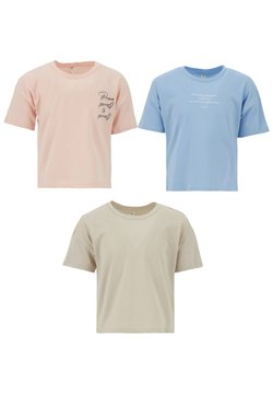 DeFacto - 3 PACK - T-shirt con stampa - blue