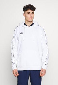 adidas Performance - CORE ELEVEN FOOTBALL HODDIE SWEAT - Kapuzenpullover - white