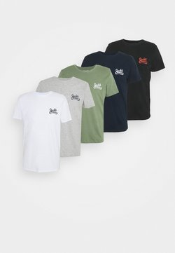 Jack & Jones - JORSIGNATURE TEE CREW NECK 5 PACK - T-shirt print - white