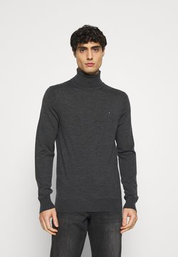Tommy Hilfiger Tailored - FINE GAUGE LUXURY ROLL  - Pullover - magnet heather