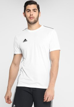 adidas Performance - AEROREADY PRIMEGREEN JERSEY SHORT SLEEVE - Printtipaita - white/black