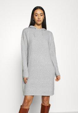 Vero Moda - VMDOFFY HOOD DRESS - Abito in maglia - light grey melange