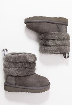 UGG - FLUFF MINI QUILTED - Stiefelette - charcoal
