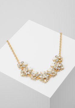 Pieces - PCKATHARINA STONE NECKLACE - Halskette - gold coloured/clear/white