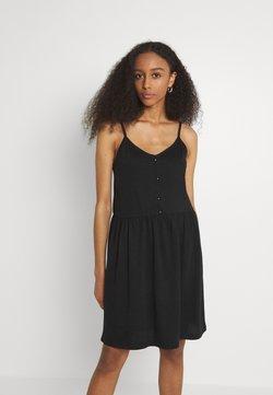 Vila - VIDREAMERS SINGLET SHORT DRESS - Vestido ligero - black