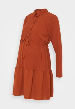 New Look Maternity - PLAIN DRESS - Vestido camisero - rust