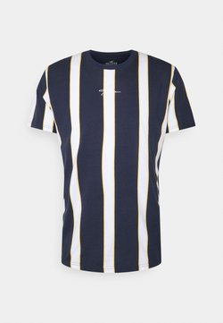 Hollister Co. - CREW STRIPES - T-Shirt print - navy vertical
