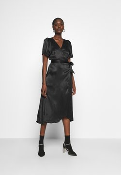 JUST FEMALE - JULISSA WRAP DRESS - Cocktailkleid/festliches Kleid - black