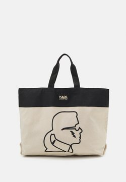 KARL LAGERFELD - EXCLUSIVE IKONIK WITH HANDLES - Shopping Bag - off-white