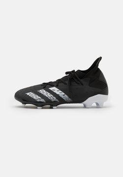 adidas Performance - PREDATOR FREAK .3 FG - Botas de fútbol con tacos - core black/footwear white