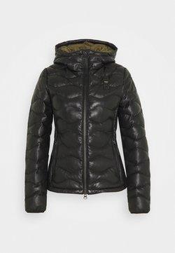 Blauer - CAPO SPALLA IMBOTTITO - Leather jacket - black